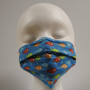 Reusable Cotton Masks - Kids Fish