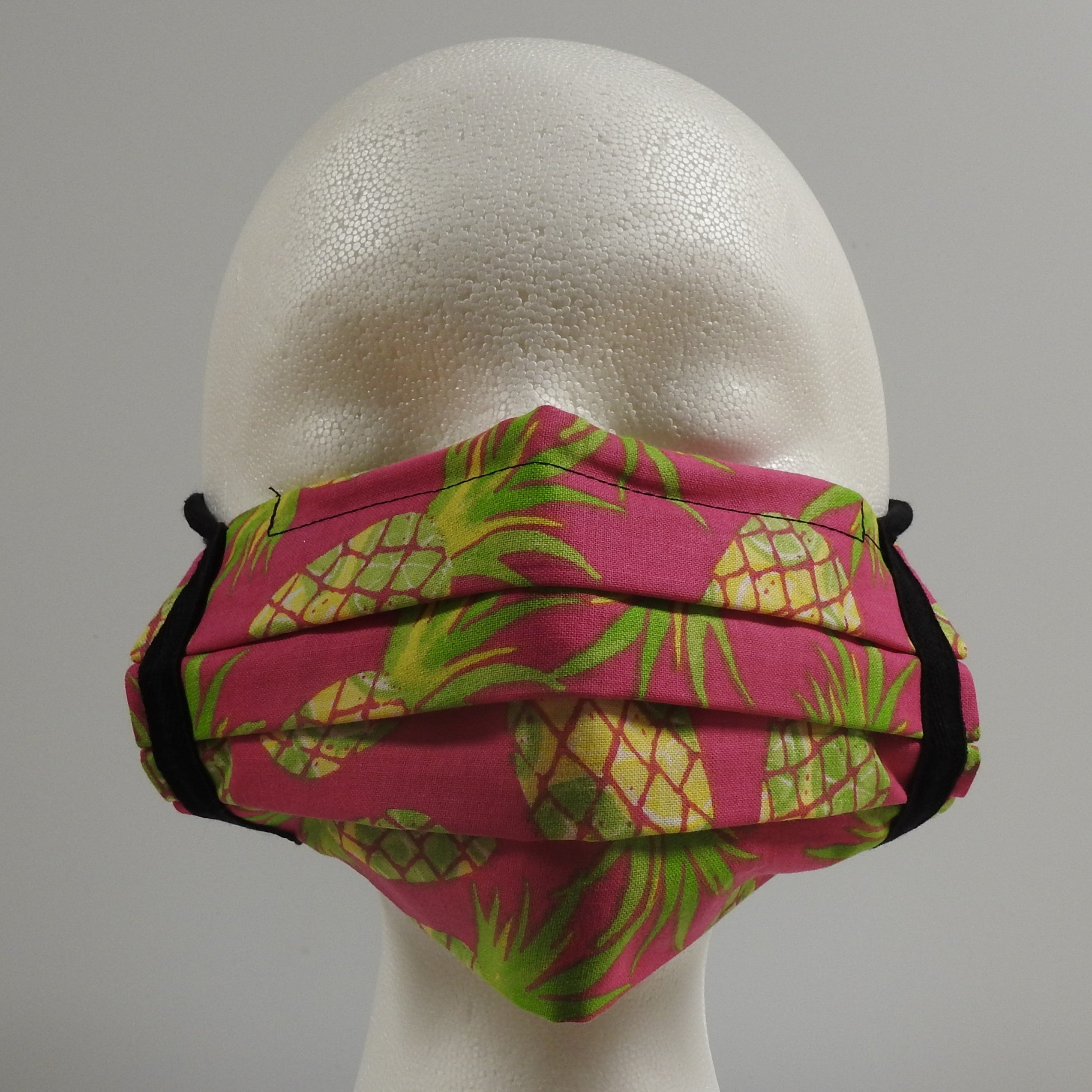 Reusable Cotton Masks-Pink Pineapple