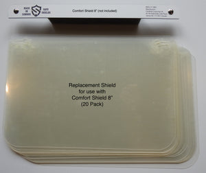 "Replacement Face Shields - 8"" Face Shield (Comfort & Dentist)"