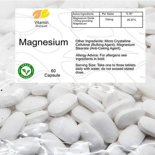 Magnesium 100mg Supplement Tablets