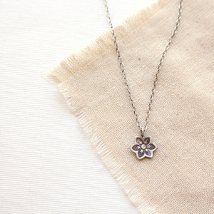 Moonflower Charm Necklace