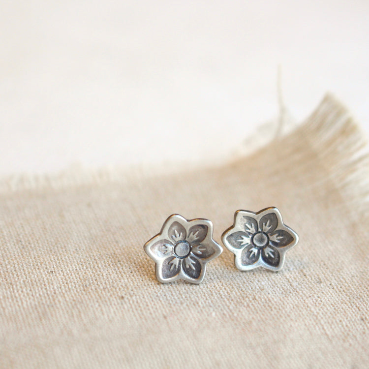 Moonflower Post Earrings