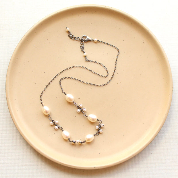 Wrapped Pearl Vine Necklace 1