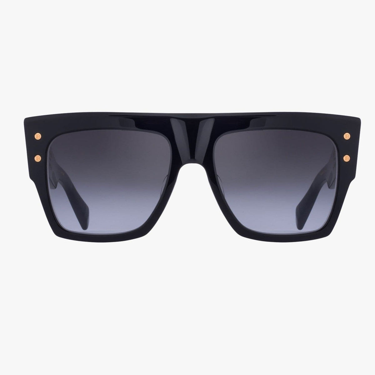 Balmain Unisex Black And Gold-Tone Acetate B-I Sunglasses