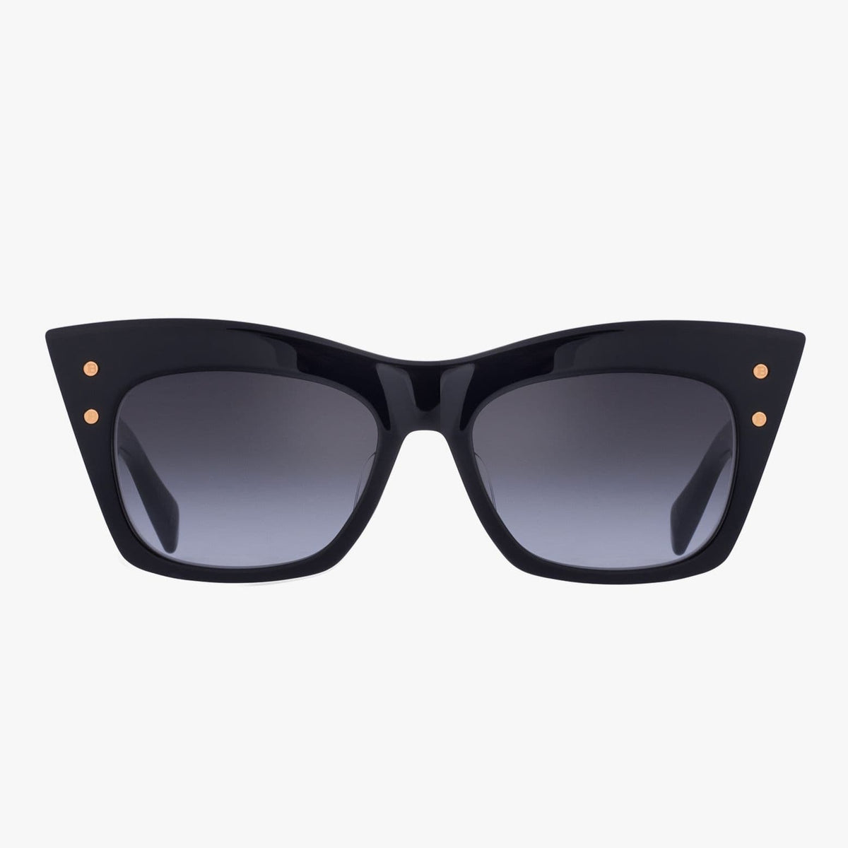 Balmain Unisex Black And Gold-Tone Acetate B-II Sunglasses