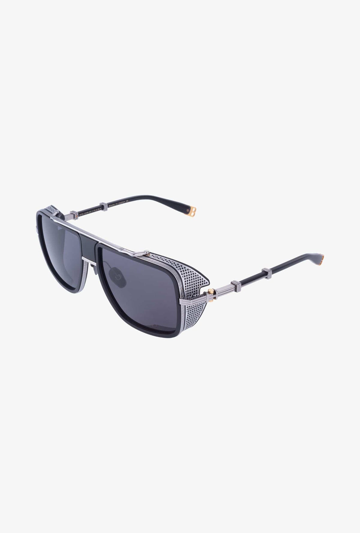 Balmain Unisex Black And Silver-Tone Metal O.R. Sunglasses