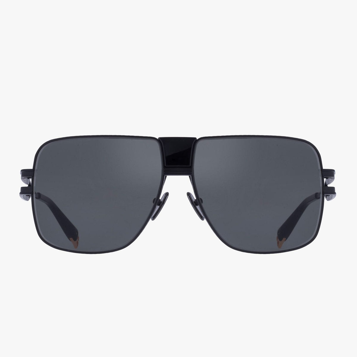 Balmain Unisex Matte Black Metal 1914 Sunglasses