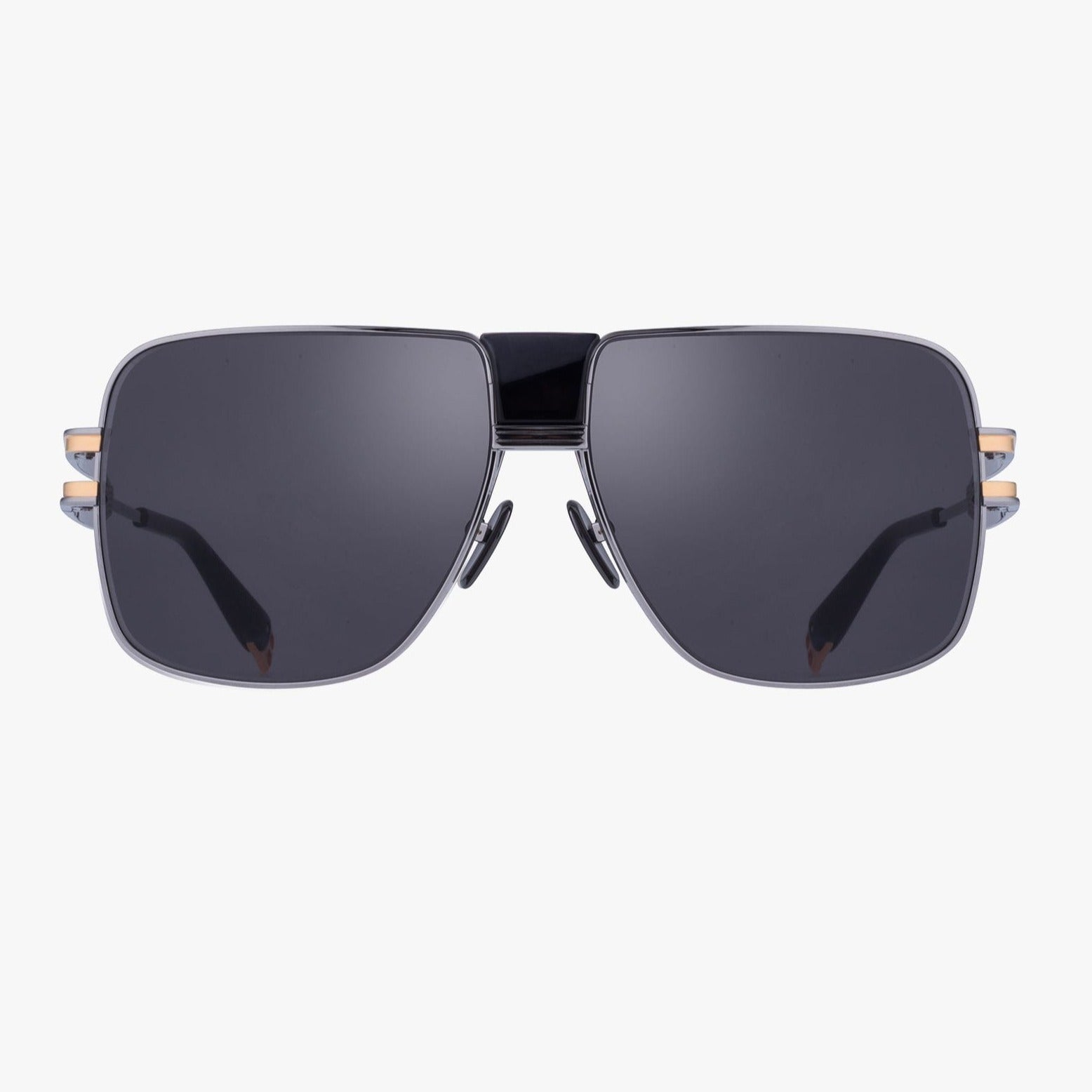 Balmain Unisex Black And Dark Grey Metal 1914 Sunglasses