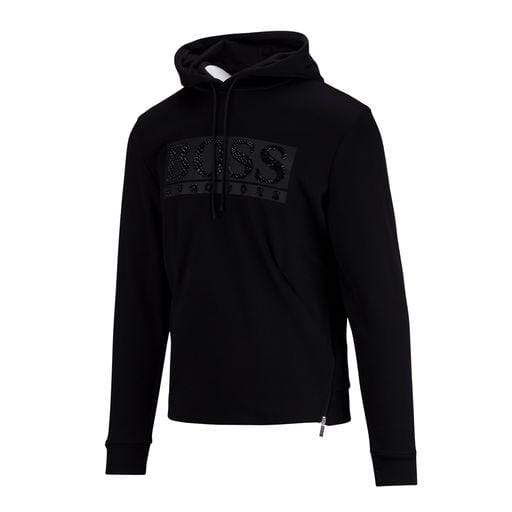 BOSS Hooded Sweatshirt With Rhinestone Logo