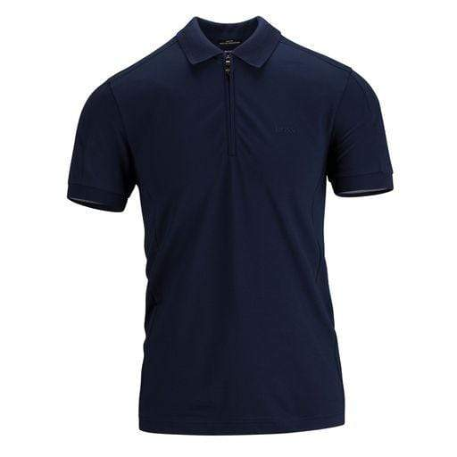 BOSS Slim-Fit Polo Shirt With Zipped Neck