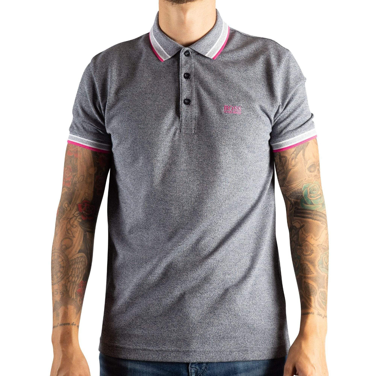 BOSS Cotton-Piqué Polo Shirt With Logo Undercollar