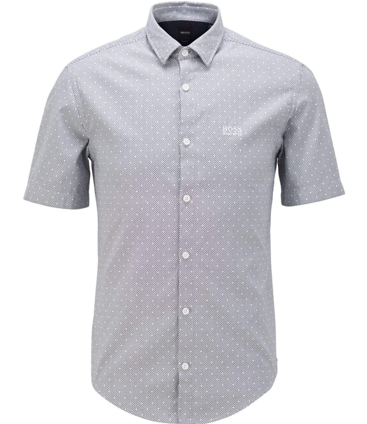 BOSS Slim-Fit Shirt In Two-Tone Dobby Cotton