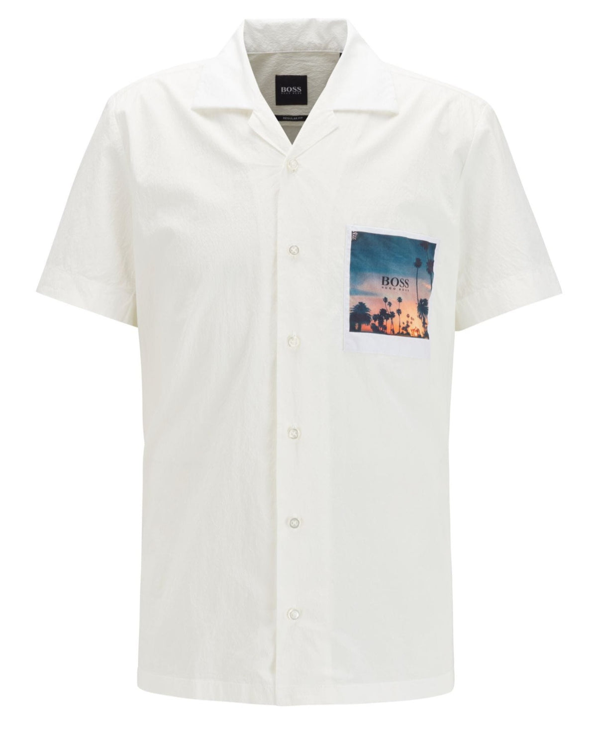 BOSS Stretch-Cotton Regular-Fit Shirt With Photographic Pocket