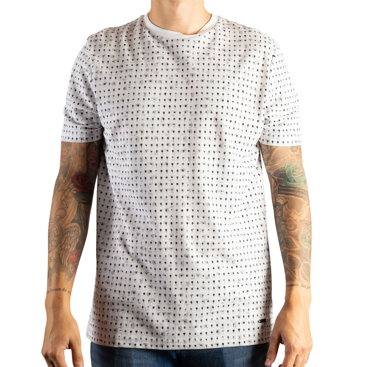 BOSS Cotton-Piqué T-shirt With All-Over Print