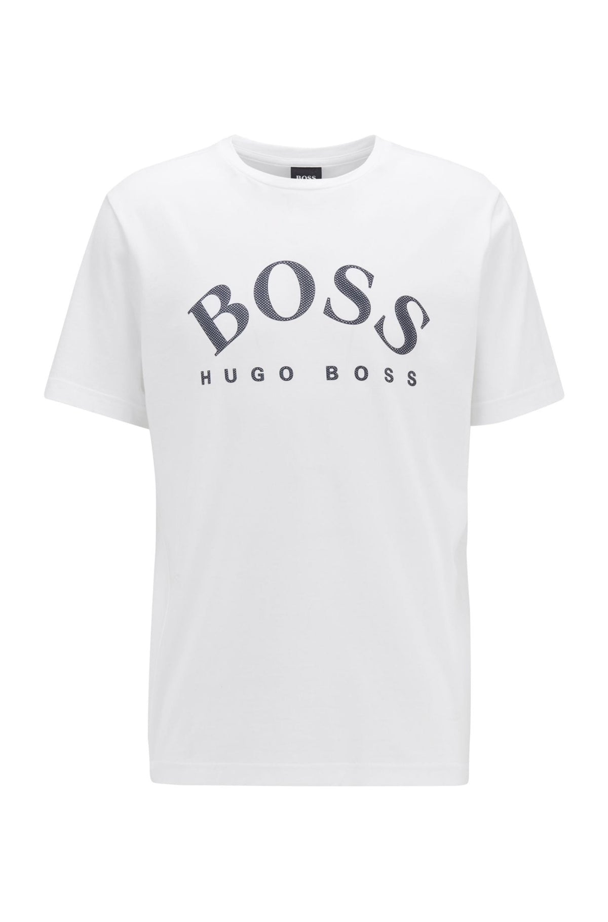BOSS Cotton T-Shirt With Curved Logo