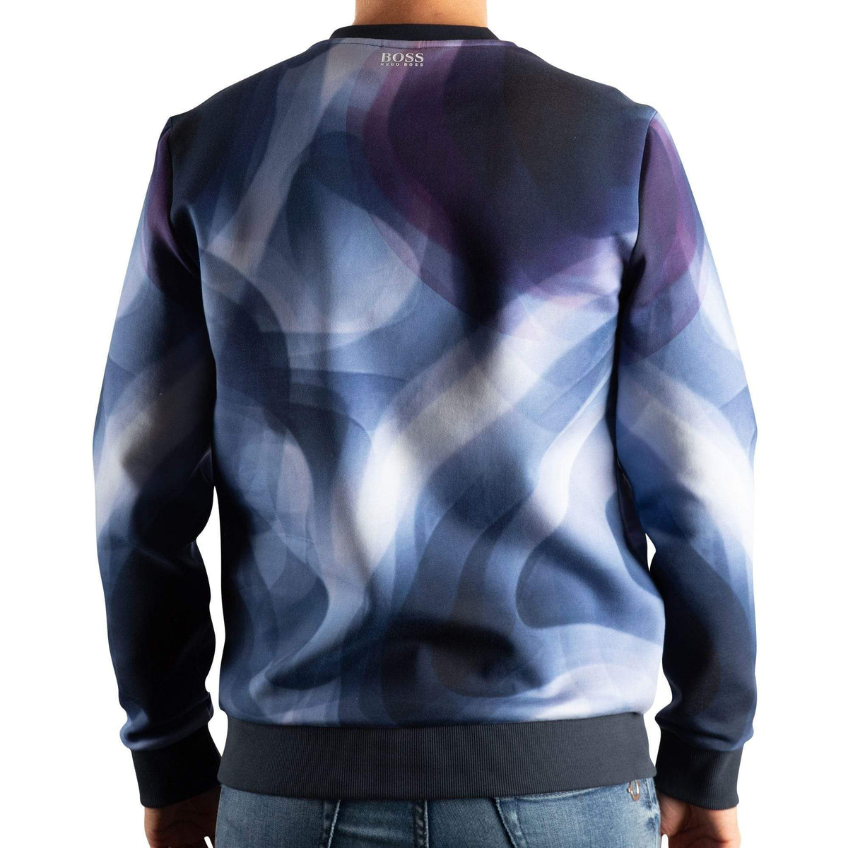 BOSS Slim-Fit Sweatshirt With All-Over Digital Print