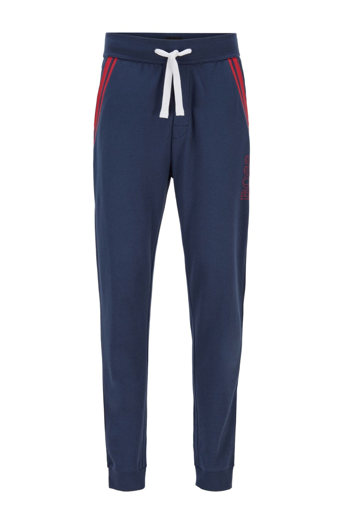 BOSS Loungewear Trousers In French Terry With Contrast Stripes