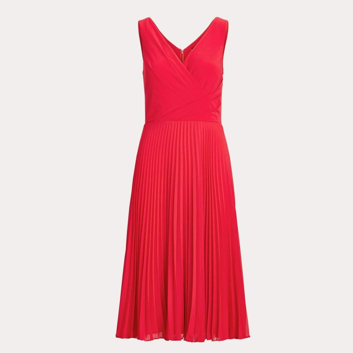 Lauren Ralph Lauren Pleated Matte Jersey Dress