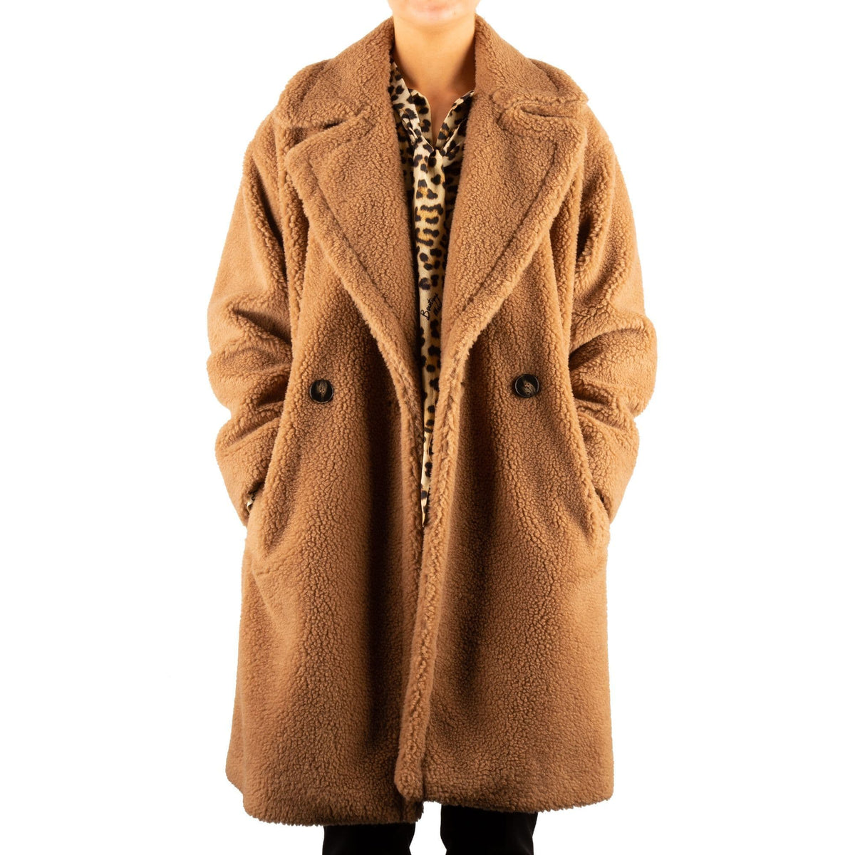 Marella Double-Breasted Teddy Coat