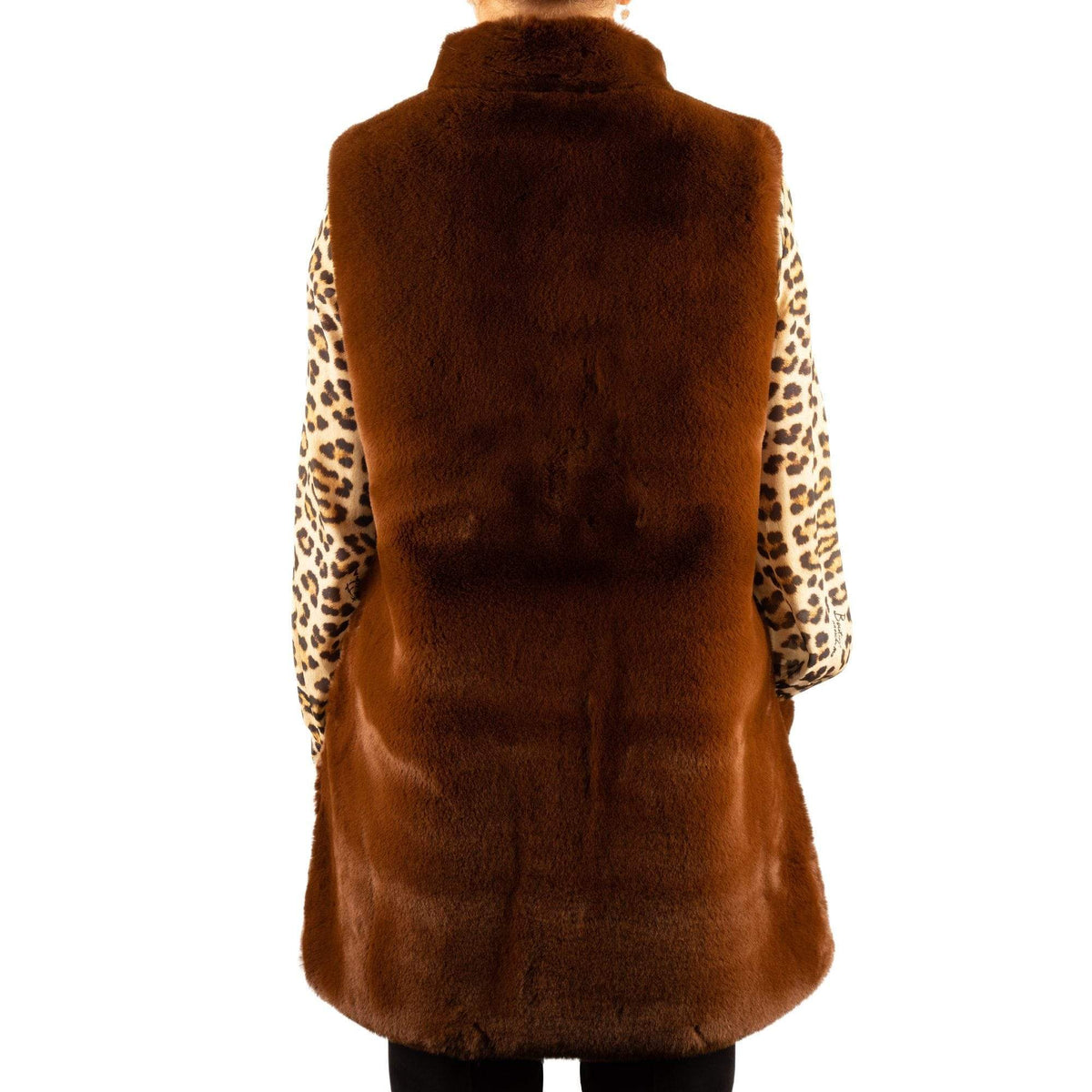 Marella Ghia Ladies Faux Fur Gillet