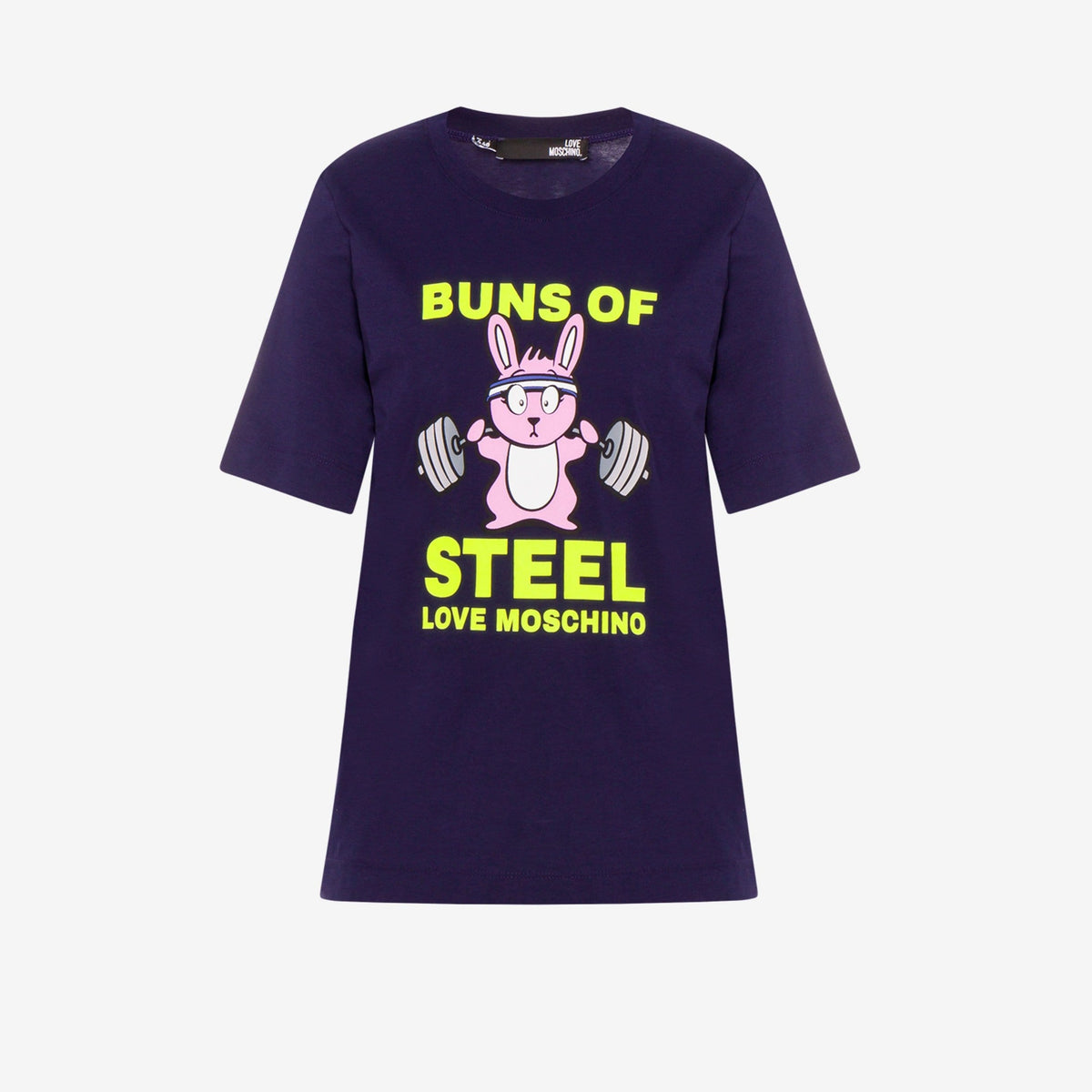Love Moschino Ladies Buns Of Steel Jersey T-Shirt