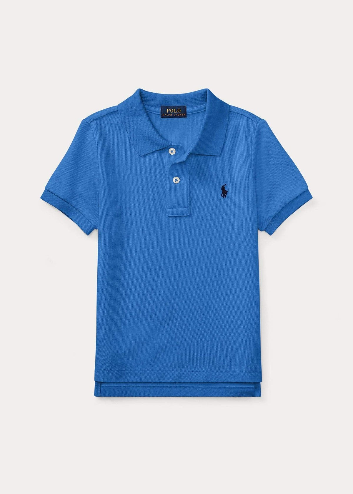 Polo Kids Boys Mid-Blue Mesh Polo Shirt