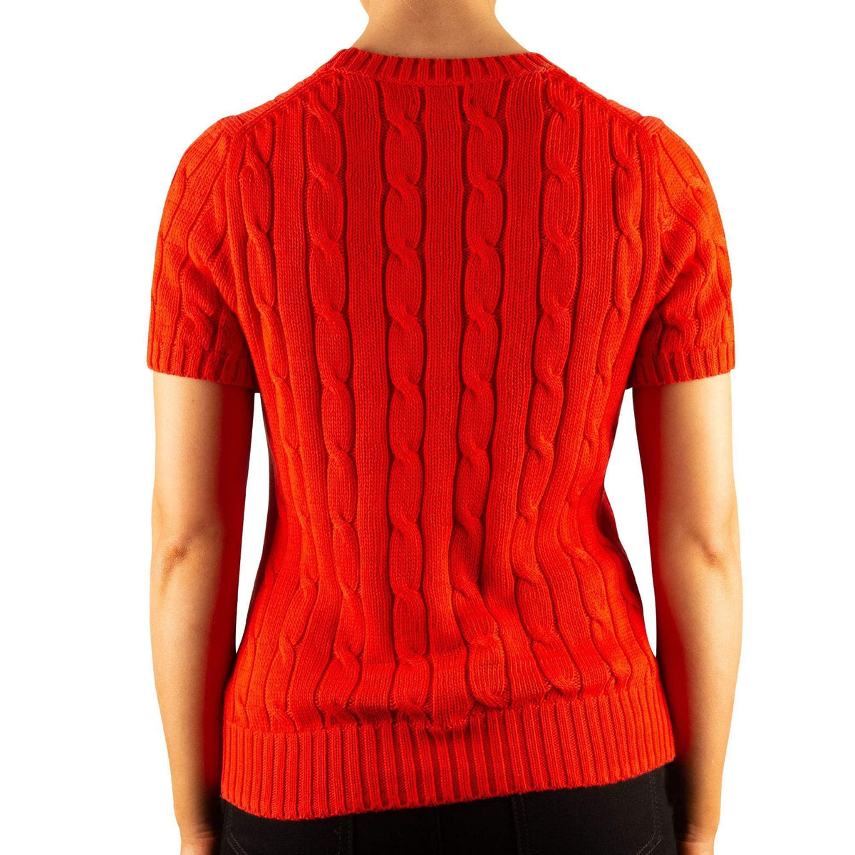 Polo Ralph Lauren Short-Sleeve Cable Knit Jumper