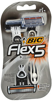 Bic Flex 5 - 2 Longer Lasting Flexible Blades