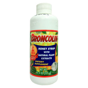 Broncolin Cough & Immune System Honey Syrup with Natural Plant Extracts - 11.4oz