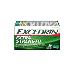 Excedrin Extra Strength Pain Reliever Geltabs - Acetaminophen/Aspirin (NSAID) - 20ct