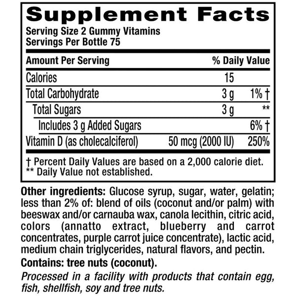 Vitafusion Vitamin D3 Gummies - Peach, Blackberry & Strawberry - 150ct