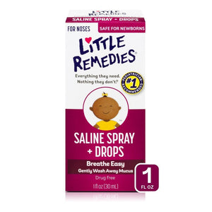 Little Remedies Saline Spray and Drops - 1 fl oz