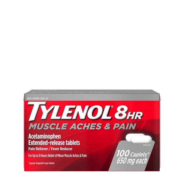 Tylenol 8 Hour Muscle Aches & Pain Tablets - Acetaminophen - 100ct