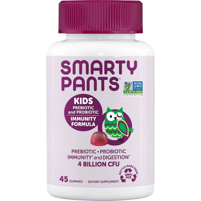SmartyPants Kids Prebiotic and Probiotic Immunity Formula Gummies - Grape - 45ct