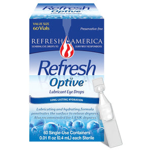 Refresh Optive Sensitive Lubricant Eye Drops - 60ct