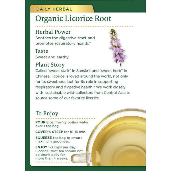 Traditional Medicinals Licorice Root Organic Tea - 32ct