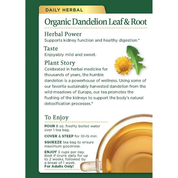 Traditional Medicinals Dandelion Leaf & Root Organic Tea - 32ct