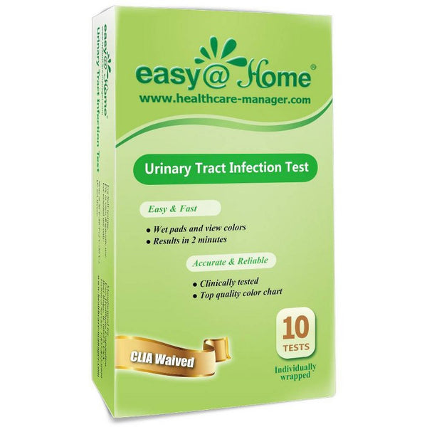 easy@Home Urinary Tract Infection Test Strips with Individual Pouch - 10ct
