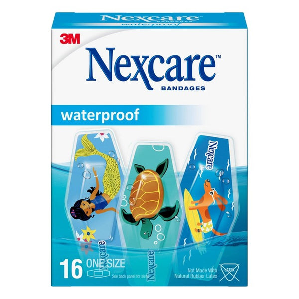 Nexcare Waterproof Bandages Oceanic Collection - 16ct