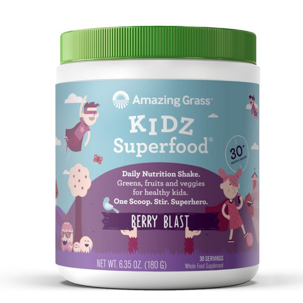 Amazing Grass Kidz Superfood Vegan Powder Berry 30 Servings