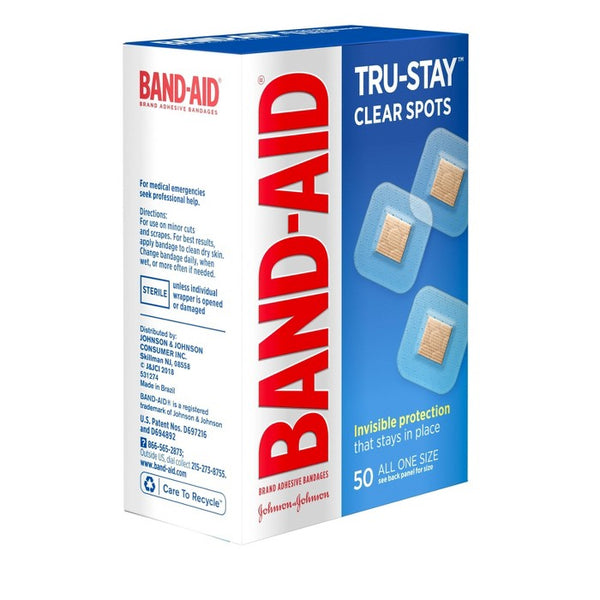 Band-Aid Clear Spot Bandages - 50ct