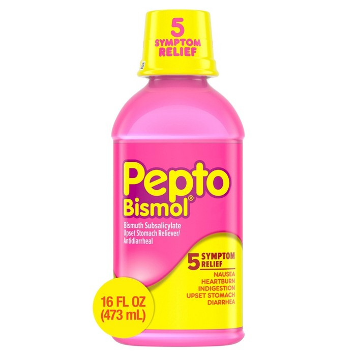 Pepto-Bismol 5 Symptoms Digestive Relief Original Liquid - 16 fl oz