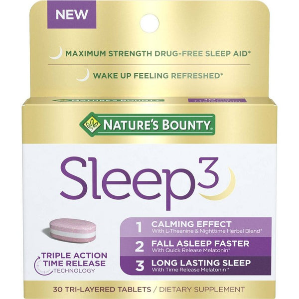 Nature's Bounty Sleep 3 Tri-Layered Tablets - 30ct