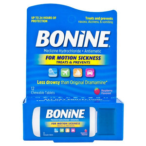 Bonine Motion Sickness Chewable Tablets - 12ct