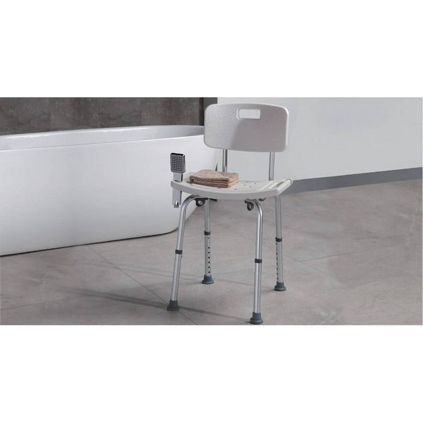 Freestanding Bathroom Seat White - evekare