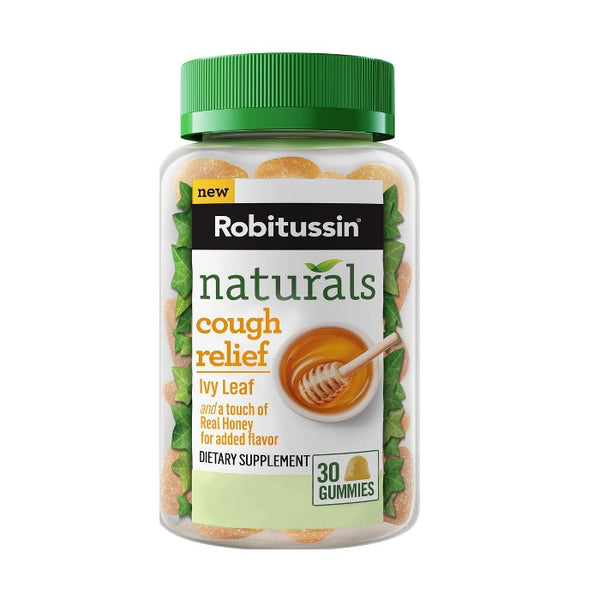 Robitussin Naturals Cough Relief Honey & Ivy Leaf Gummies - 30ct