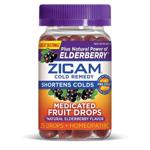 Zicam Medicated Fruit Drops - Elderberry - 25ct