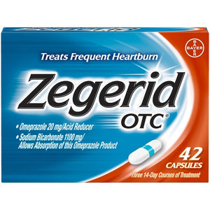 Zegerid OTC Heartburn and Acid Reduce for Frequent Heartburn Capsules - 42ct
