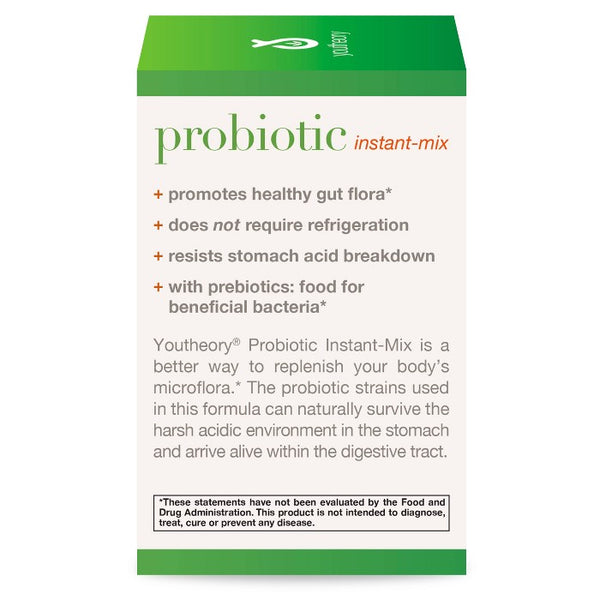 Youtheory Probiotic Instant-Mix Powder Packets - 15ct