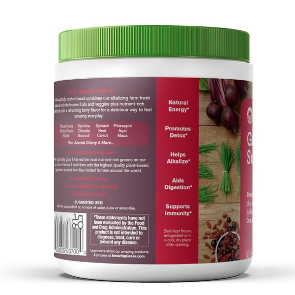 Amazing Grass Green Superfood Vegan Powder - Berry - 8.5oz